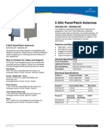 5 GHz Directional Panel Patch Antenna Datasheet