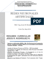 Redes Neuronales Artificiales Mayo 2012