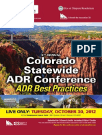 2012 Colorado Statewide ADR Conference