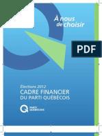 Cadre financier du Parti québécois