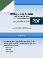 03 - FI - HTML - Listas, Tabelas e Formularios