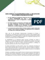 Indra diseña plan estratégico para la  implantación de redes inteligentes en Perú