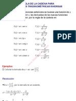 0Regla de la cadena para funciones trigonométricas inversas