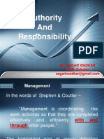 Authority & Responsibility
