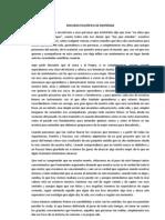 DISCURSO FILOSÓFICO DE DESPEDIDA