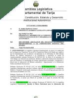 Informe Final de Adecuacion Estatuto a La CPE