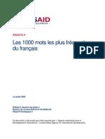 Cele Mai Folosite 1000 Cuvinte in Franceza