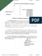 Motion to Terminate Probation