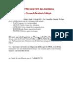 Les FRCI enlèvent des membres du Conseil Général d'Alépé
