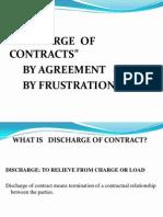 Dischage of Contract