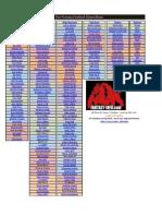 2012 Tier Fantasy Football Cheat Sheet - Updated 8-24