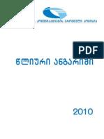 GNCC Annual Report 2010 in Georgian