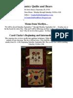 CQB's Newsletter September October 2012