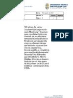 Informe de prensa semana del 9 al 24 de agosto de 2012