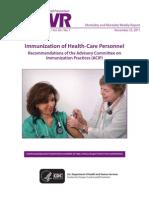 Vacunación de profesionales de la salud