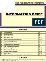 Information Brief by Inter Services Public Relations (ISPR)