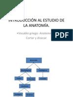 INTRODUCCIÓN AL ESTUDIO DE LA ANATOMÍA