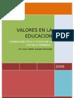 Valores en La Educacion