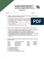 2011 - Nivel Cero Verano QUIMICA B VERSION 0 Segundo Examen