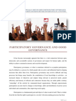 Participatory Governance - Report