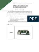 Diagnostic Card User Manual