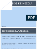 Exp. Construcción Aplanado de mezcla