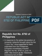 Republic Act No 8792