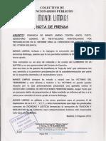 Nota de Prensa. Manos Limpias contra el 3º GRADO  al ETARRA BOLINAGA