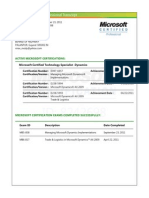 Certification Microsoft Dynamics