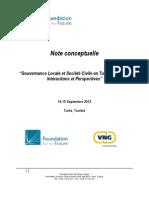 Note conceptuelle - Gouvernance locale et soci+®t+® civile - fr