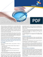 Bio Analytical Capabilities - Bio-Analytical Services for Small Molecules
