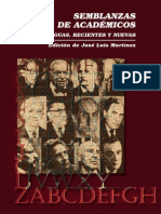 Semblanzas de académicos. Antiguas, recientes y nuevas