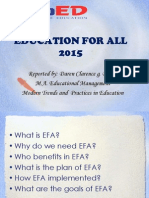 Education for All 2015