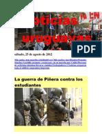 Noticias Uruguayas sábado 25 de agosto del 2012