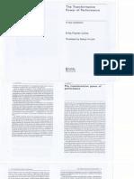 The Transformative Power of Performance_Fischer-Lichte