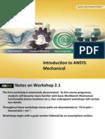 Introdução ao Programa de simulação  ANSYS 14 - Exercício 1 - Básico