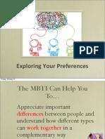 Managing working relationships - Understanding MBTI