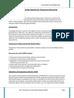 Design and Utilization of Fiber Networks for Temperature Monitoring