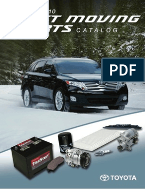 Toyota Fast Moving Parts Catalog | Manufacturing Companies