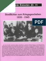 Historische Tatsachen - Nr. 84 - Siegfried Egel - Streiflichter Zum Kriegsgeschehen 1939-1945 (2002, 40 S., Scan)