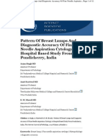 Pattern Of Breast Lumps And Diagnostic Accuracy Of Fine Needle Aspiration Cytology; A Hospital Based Study From Pondicherry, India