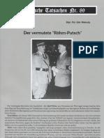Historische Tatsachen - Nr. 89 - Udo Walendy - Der Vermutete Roehm-Putsch (2004, 42 S., Scan)