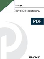 Phonic XP3000 Manual Service