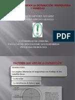 Factores Que Limitan La Distribucion. Temperatura y Humedad