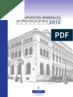 Proyecto PRESUPUESTOS Principado Asturias 2012