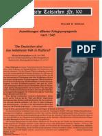 Historische Tatsachen - Nr. 100 - William Douglas - Auswirkungen Alliierter Kriegspropaganda Nach 1945 (2007, 43 S., Scan)