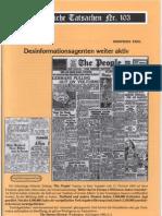 Historische Tatsachen - Nr. 103 - Siegfried Egel - Desinformationsagenten Weiter Aktiv (2008, 40 S., Bild)