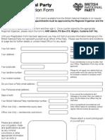 British National Party Officer_Registration_Form#2