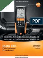 Testo 310 Manual Testo 320 Testo 310 User Manual