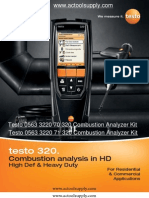 Testo 310 Trouble Shooting Testo 320 Testo 310 User Guide
